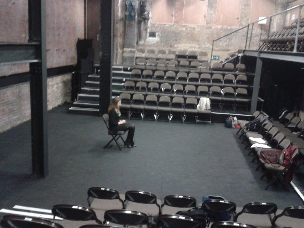 Norma during out tech for Confessional