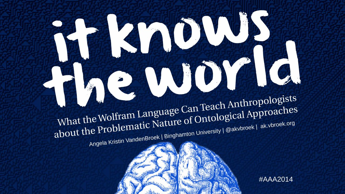 My #AAA2014 Presentation on Ontology and the Wolfram Language http://t.co/S1XywnnoIz http://t.co/nUUg80g2qE