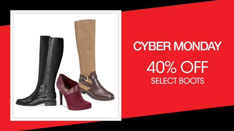 Welcome to shoe heaven: 40% off boots + Free Shipping at $50! #CyberMonday http://t.co/hVuHHBEfAr http://t.co/fa4YaiHedg