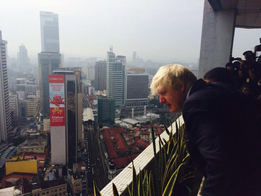 Met this morning with the Mayor of Kuala Lumpur Ahmed Phesal Talib at City Hall - quite some view! http://t.co/MLT7bY3kDk