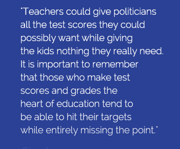 We need to stop chasing testsandgrades and calling it learning #curriculumBCN #edchat #edtech #abed #ableg http://t.co/CJdmZ7w2O8