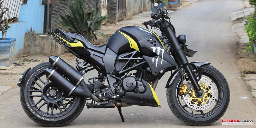 modifikasi yamaha byson street fighter  paling bagus