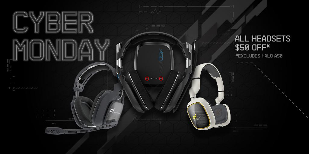 #CyberMonday has begun! Right now you can get $50 off any ASTRO Gaming Headset*. http://t.co/ElJ8pBPFJr http://t.co/gVm4y1e0Br