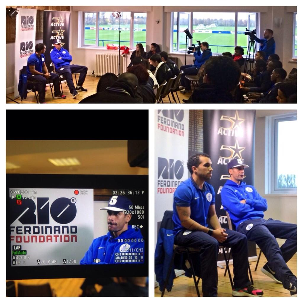 Great talking to the young people from @QPRtrust @bigworldimpact & @riofoundation with @danedwards9 this afternoon http://t.co/OjTvwHftaS