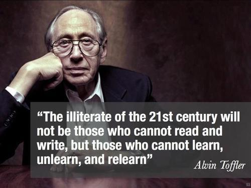 Alvin Toffler has been quoted a number of times at #curriculumBCN  - here is a slide I prepared earlier http://t.co/9wUX0i8xQz