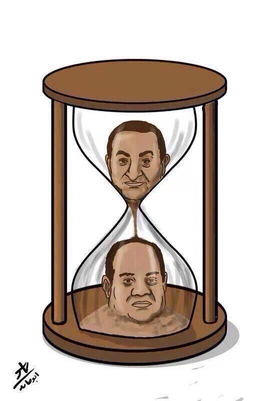 #الجزيرة_توك  كاريكاتير ساخر يُعبر عن الوضع المصري بعد حكم البراءة على الرئيس المخلوع #حسني_مبارك ..  #محاكمة_القرن http://t.co/p70XQcNpfY