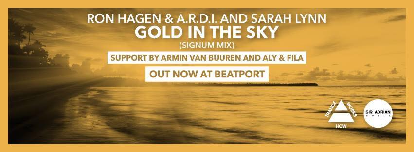 OUT NOW! Please support my new track with @ARDImusic & @SarahLynnTrance - Gold in the Sky http://t.co/Zj1aqxEFjR http://t.co/1WSyOB6ND1