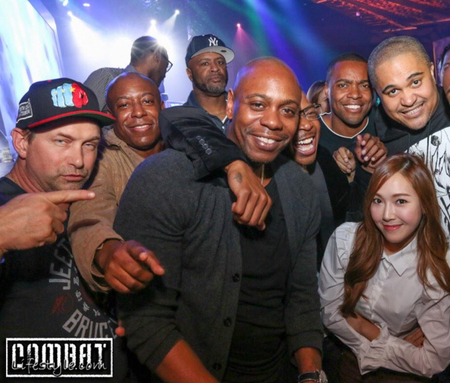 Reggie, Jessica Jung (정수연),Steve Baldwin, Dave Chapelle, Irv Gotti. Hollywood stars we love Jessica and Tyler Kwon http://t.co/3ASiItF1pI
