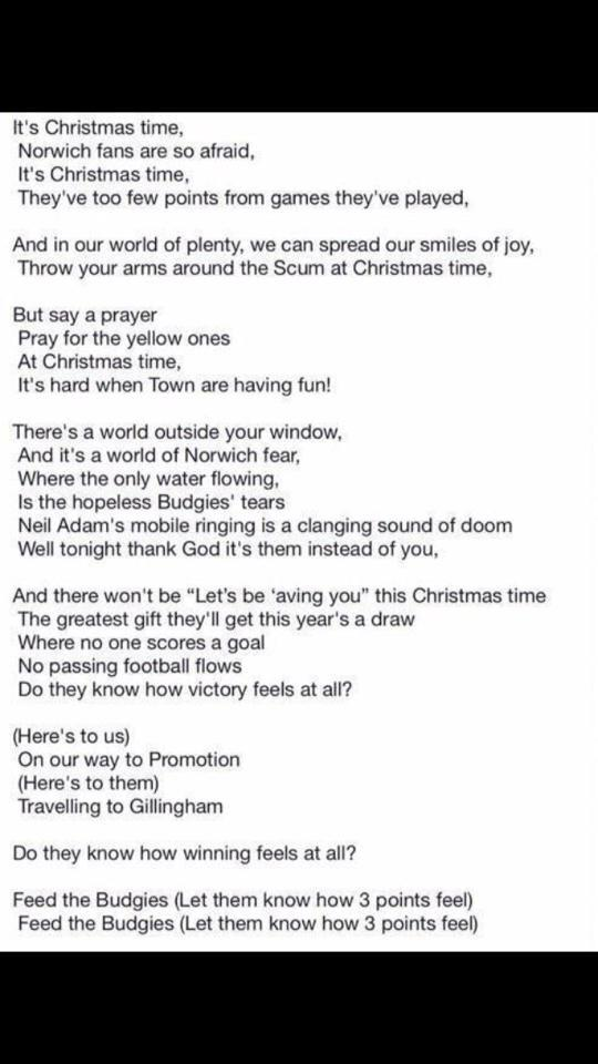 Do They Know Its Christmas Lyrics.Ipswich Town Fans On Twitter New Lyrics Have Been Released