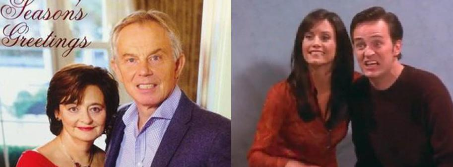 Seems Tony Blair has been taking lessons from Chandler Bing on how to smile for a Christmas card. http://t.co/34ZuKqewuo