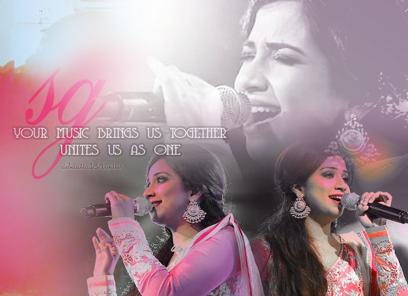 Got tempted to make one :) @shreyaghoshal 's concerts are perfection just like the voice and persona she possess ☺ http://t.co/GE9ZHh21uM