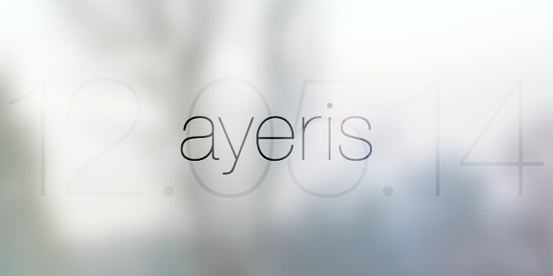 After many hours of work, I'm happy to finally announce that ayeris' next update will be available on 12.05.14! http://t.co/Ztqo9JvRHI