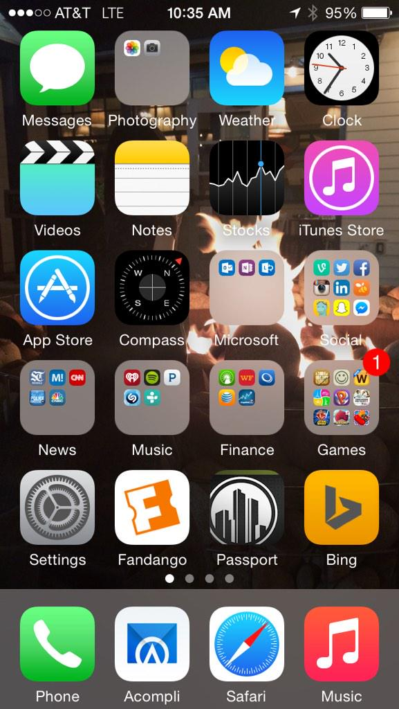 Boom. Installed and docked. @Acompli - Welcome to the #Microsoft team. #RockTheDock http://t.co/hzKE3dWmhw