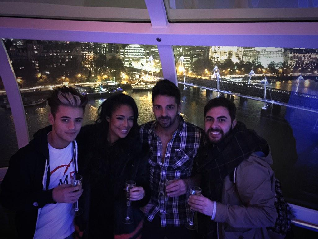 More from our #xfactor party in the London Eye for @ITVTextSanta ...Keep watching @itv3official #TextSantaKodakMoment http://t.co/5ng6EdRuaN