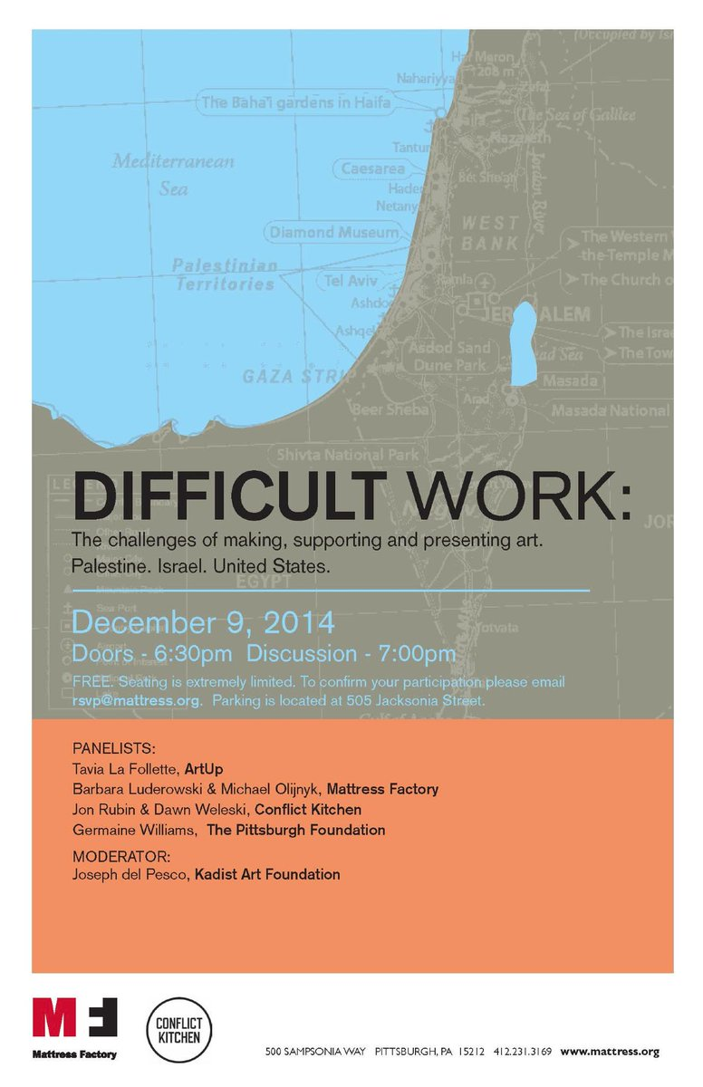 We have teamed up with @conflictkitchen to present a FREE panel discussion on 12/9 at 7pm! http://t.co/lHqtp4kUjM http://t.co/zdfamM5wa9