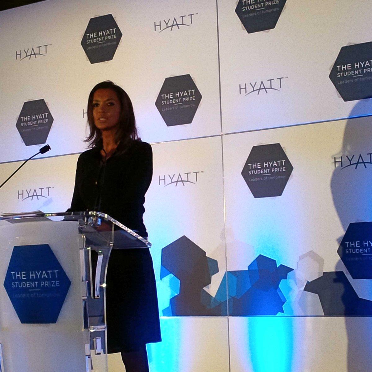 TV host #KarineLeMarchand introducing the #HyattStudentPrize @ParkHyattParis #Vendome #luxury #travel #news<br>http://pic.twitter.com/KXTGRYVr0o