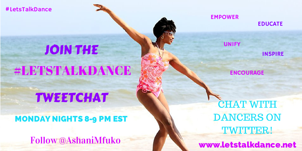 The #letstalkdance #Tweetchat has begun! To join/follow along w/ the Tweetchat: Go to http://t.co/9Vh8aoisJ1. http://t.co/KoWVLSOAl9