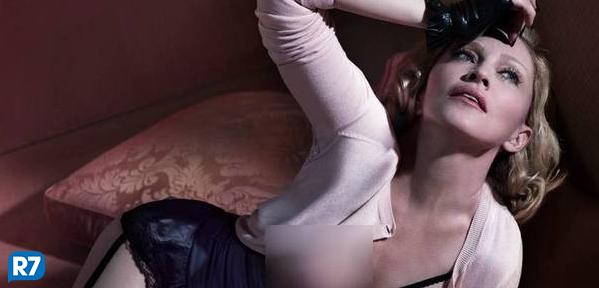 Madonna nua na Interview mostrando tudo
