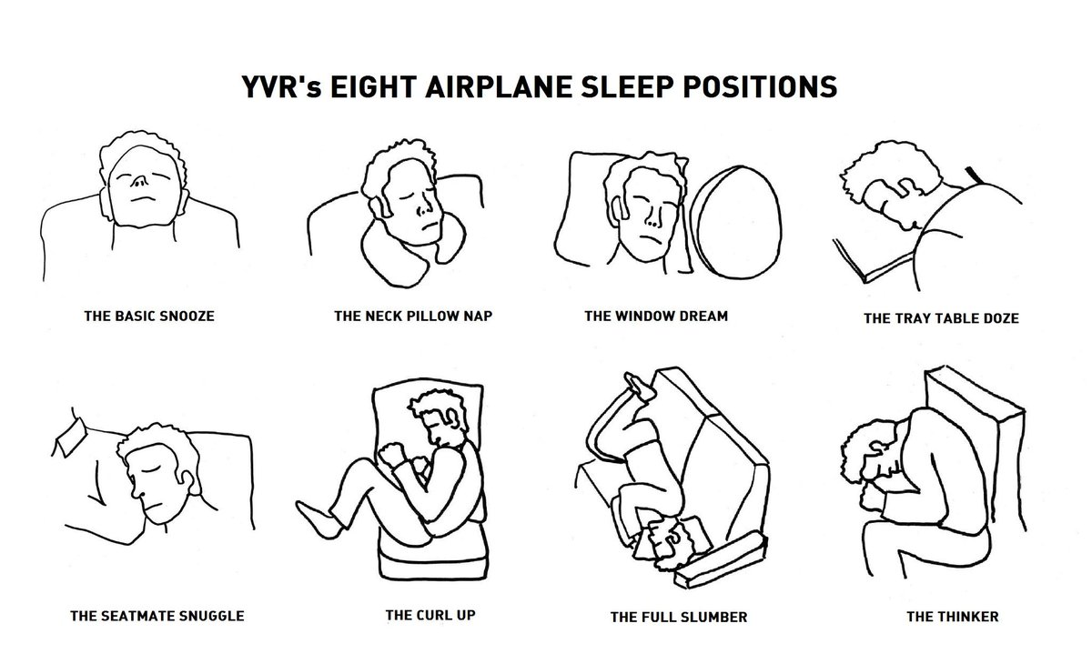 RT @MattHoekstra: Eight aircraft sleeping positions from @yvrairport