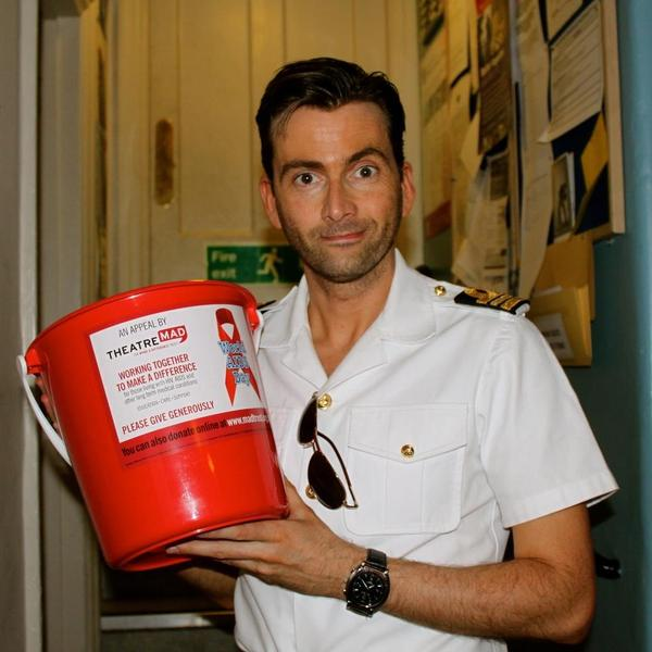 David Tennant supporting World AIDS Day bucket collections