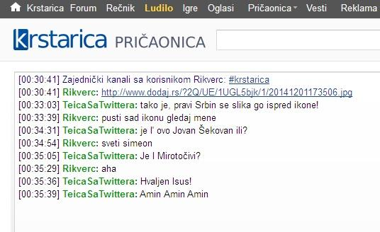 krstsrica chat