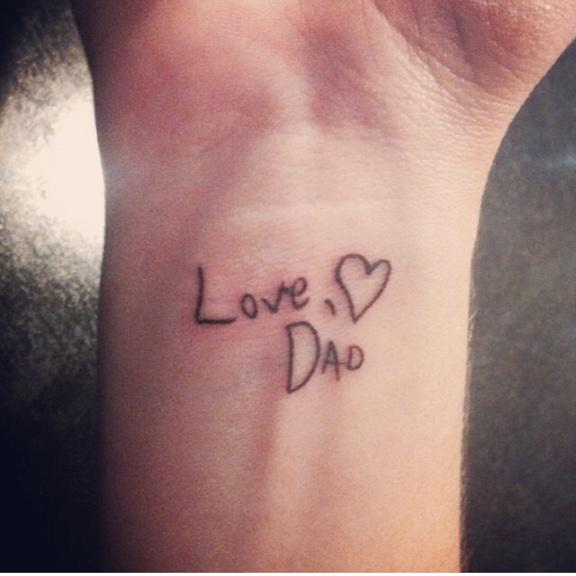 Embedded image permalink for Tattoos for dad that passed away