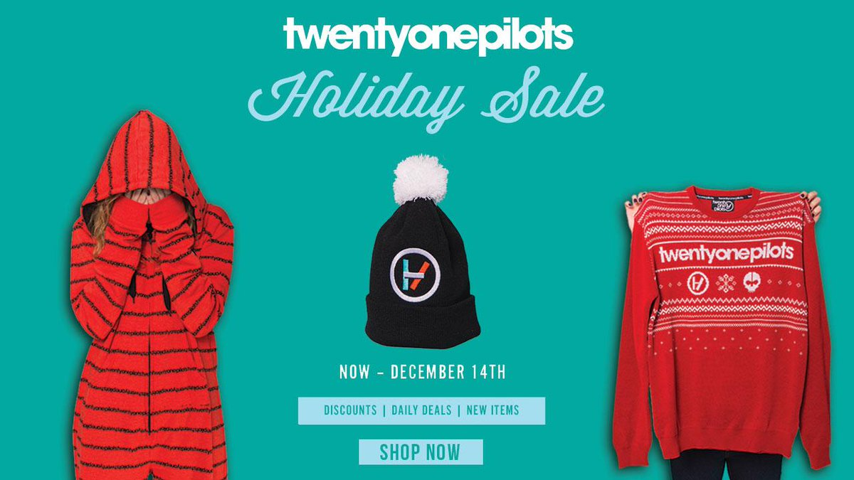 twenty one pilots on twitter the holidays are coming new items are here things are on sale httptcovrdiu01q3l httptcoz4jproomnb