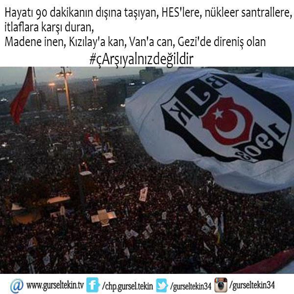 Hayatı 90 dakikanın dışına taşıyan, Kızılay'a kan, Van'a can, Gezi'de direniş olan #cArsıYalnızDeğildir http://t.co/BRx5aSxsw6