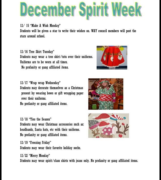 Christmas Spirit Week Ideas School.Jfkhs Way On Twitter Ideas For The Spirit Week Please