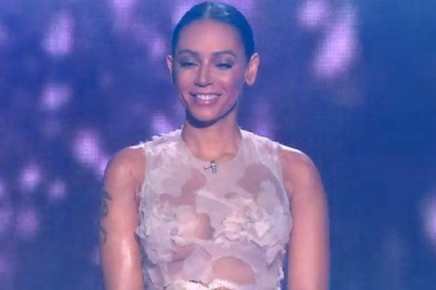 No Need To Show Us Your Nipples Mel B Makes X Rated Xfactor Return Following Illness