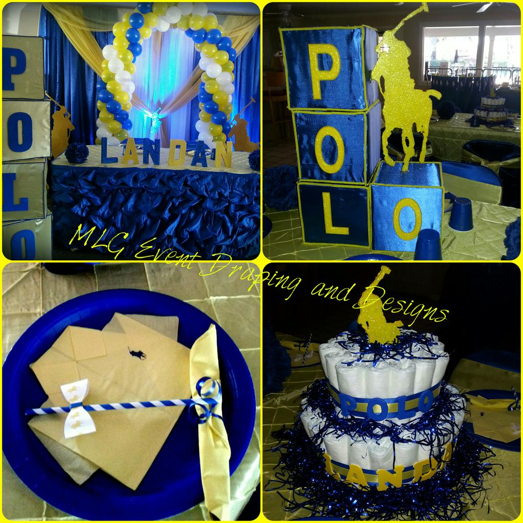 polo theme baby shower created by mlg event draping and designs pic