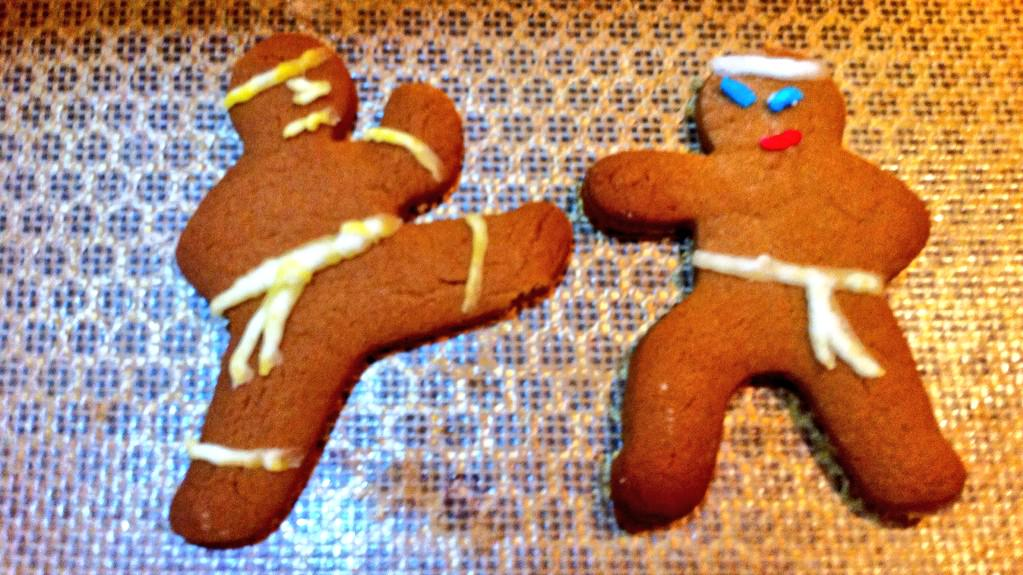 Boys were making biscuits yesterday. Behold the Ninja Bread Men! http://t.co/5nvQbVrQvr