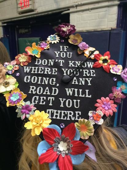 """@WCUgraduation: A philosophical cap #wcugraduation http://t.co/foz5ov2lL7"" my cap ☺️💜"