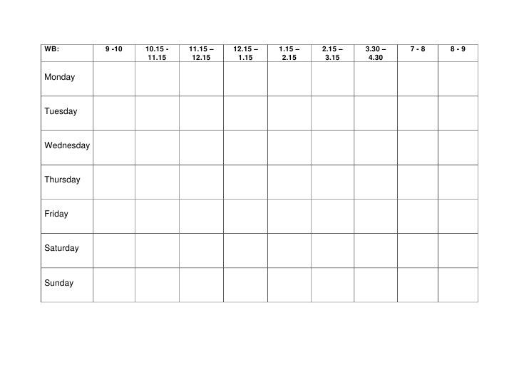 Examrevision on twitter have you sorted your revision for Blank revision timetable template