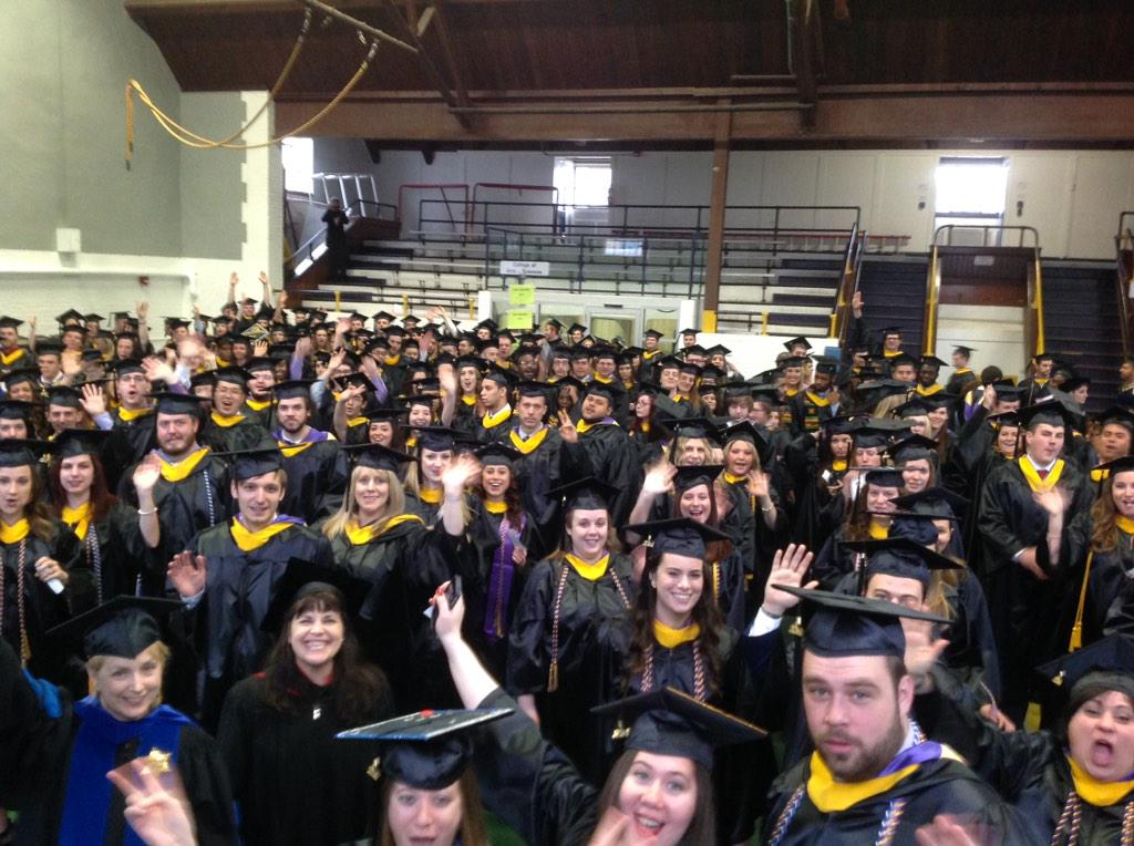 #wcugraduation Part 2: College of Arts & Sciences & Visual/Performing Arts @WCUCVPA lining up! #wcugrad14 http://t.co/y82ubs4pbK