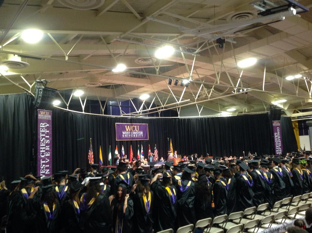 I ask you now to transfer your tassel from right side to left side of your cap. #youvebeentasseled #wcugraduation http://t.co/dfFdzzwCkX