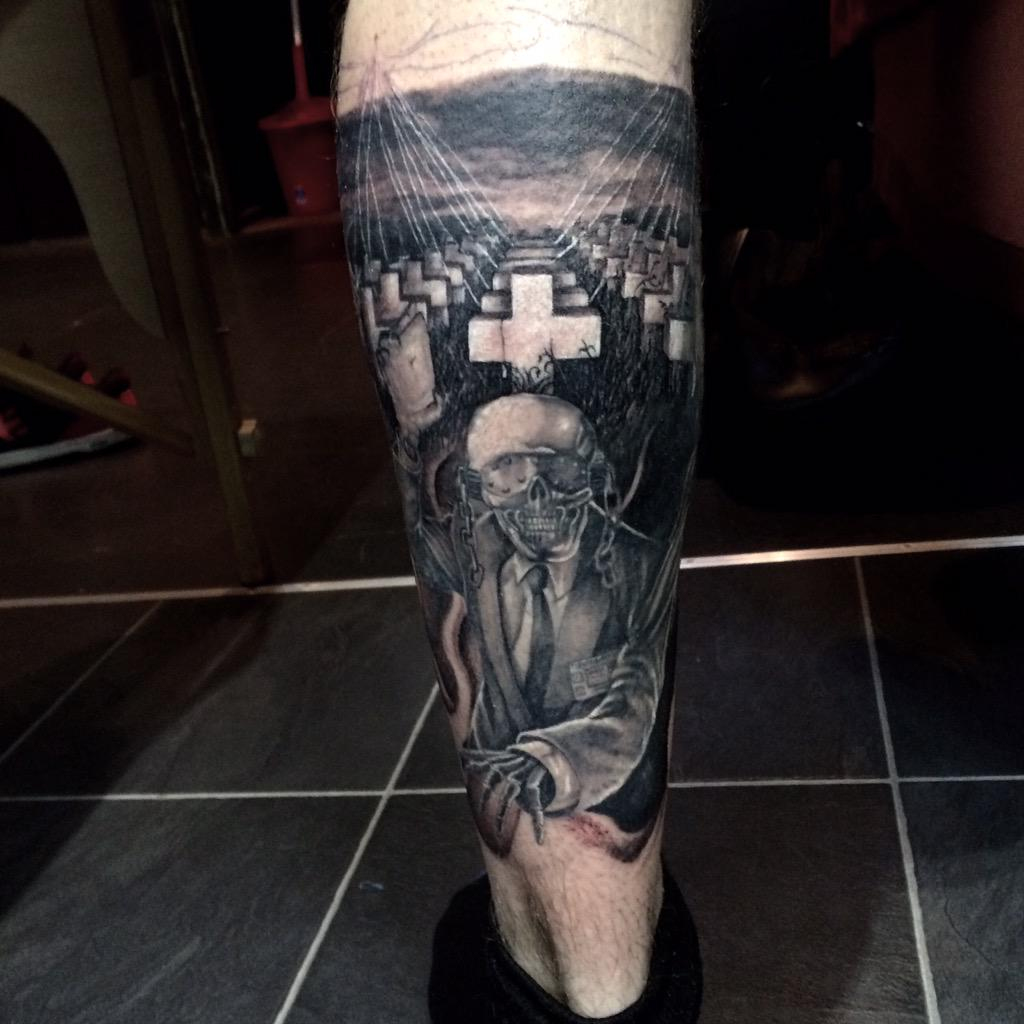 Scott rowlands on twitter added this master of puppets for Metallica sleeve tattoo