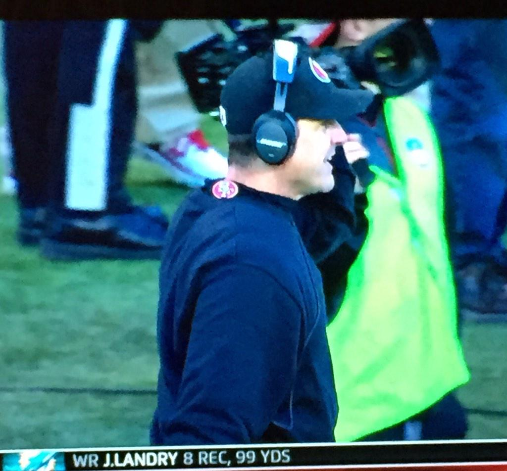 Someone should tell Jim Harbaugh his turtle neck is on backwards.  I'm not doing it. But someone should. http://t.co/6PZtvdXJ2L
