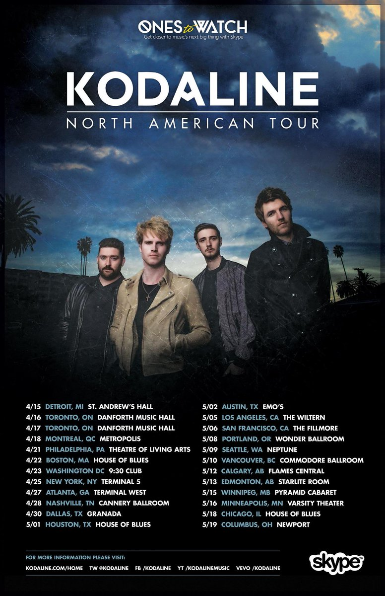 Kodaline new album and tour 2015