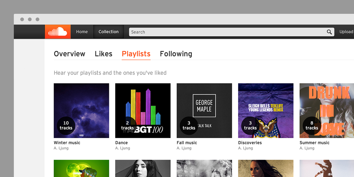 Your new SoundCloud home on the web: Collection! Log in and click to hear yours: https://t.co/jfW6X8czFs http://t.co/rGY4u3EyKV