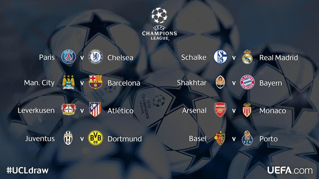Some cracking games here in the @ChampionsLeague & @EuropaLeague #UCLdraw #UCL #UEL http://t.co/9eyIazduKZ
