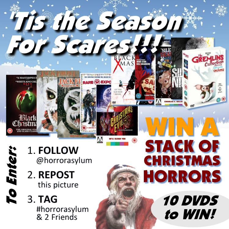 It's a Christmas miracle! WIN a stack of Xmas Horror DVDs. Just FOLLOW US, RETWEET, TAG US and 2 FRIENDS #xmashorror http://t.co/bFw7yajJwa
