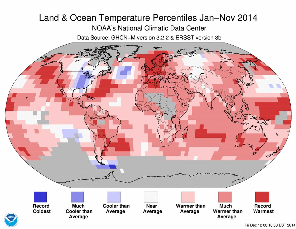 Month to Go: November Keeps 2014 on Track for Warmest Year on Record