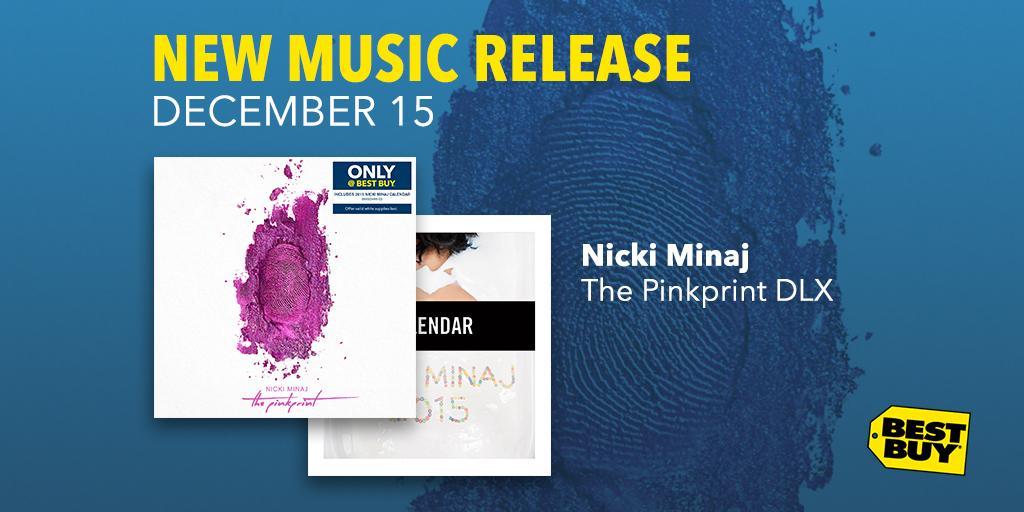 Uh, you gotta listen to Nicki Minaj's #ThePinkprint with #OnlyAtBestBuy calendar. http://t.co/6kUdnLha5L #NewRelease http://t.co/DoB2F3Qkt1