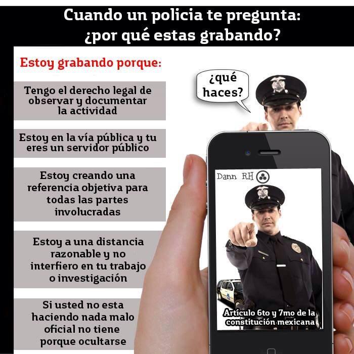 Cuando un policía te pregunta porque lo grabas. http://t.co/B5C77GyP82