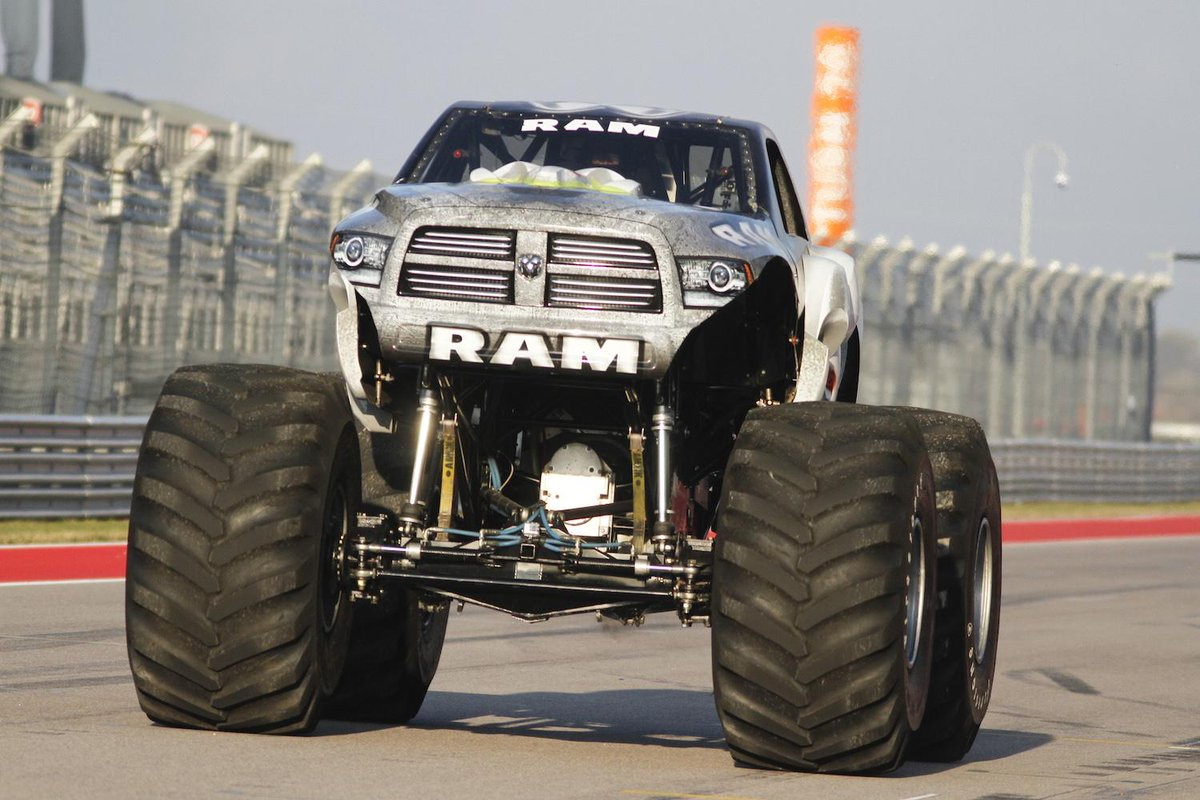 The RAMINATOR has officially set the new world record for the fastest speed for a monster truck at 99.1mph! http://t.co/0v1QV76YP5