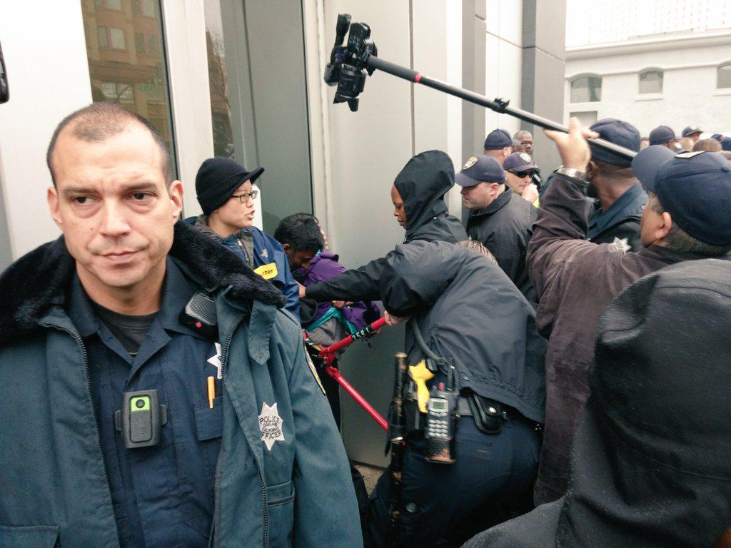 We Asians locked out OPD to answer the call from Black leaders http://t.co/4FevaApegP #Asians4BlackLives #shutdownOPD http://t.co/tjrJnPWrr1