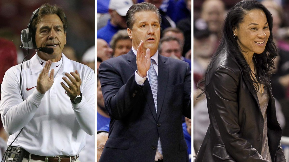 The #SEC currently has the nation's No. 1 teams in football, men's basketball and women's basketball: http://t.co/bYgmeFyUIE
