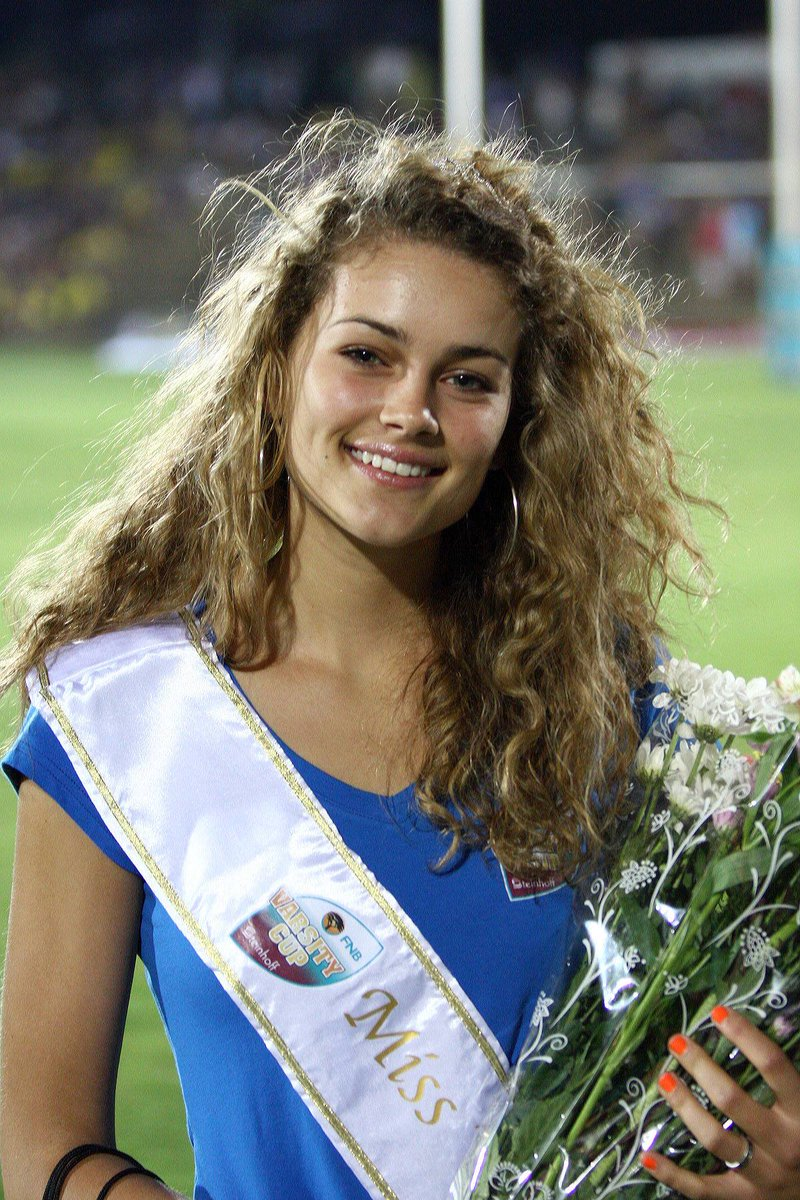Miss Varsity Cup 2011 - Rolene Strauss - now Miss World!!  / Photo by Van Zyl Naude @varsitycup http://t.co/6wvGlwXSxz