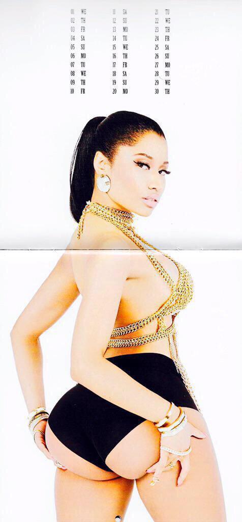 Nicki Minaj nua em calendário 2015